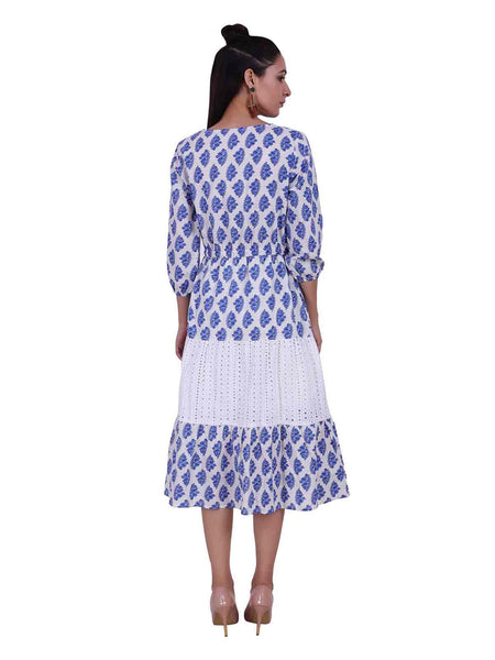 Rena Love Broderie Printed Dress