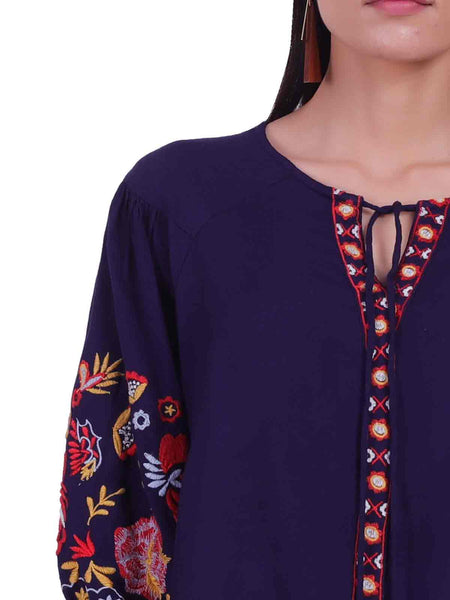 Rena Love Moonlight Embroidered Blouse