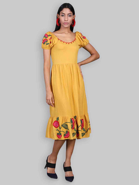 Rena Love Danielle Embroidered Dress