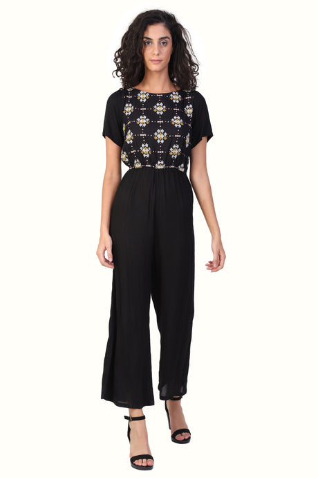 Rena Love Embroidered Jumpsuit :
