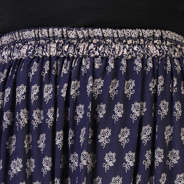 Rena Love Navy Printed Skirt