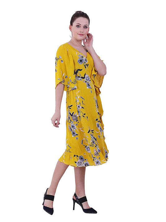 Keya Printed Wrap Dress