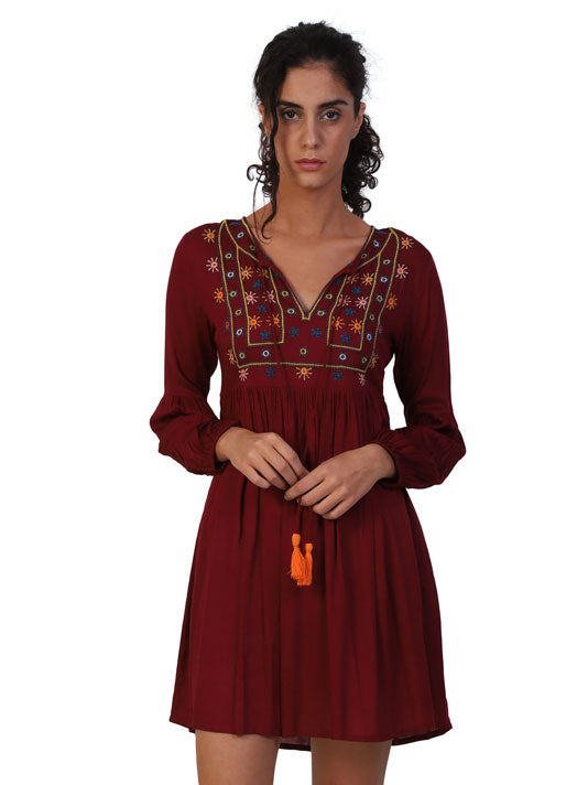 Mirror Embroidered Dress