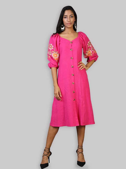 Pink Bliss Embroidered Dress