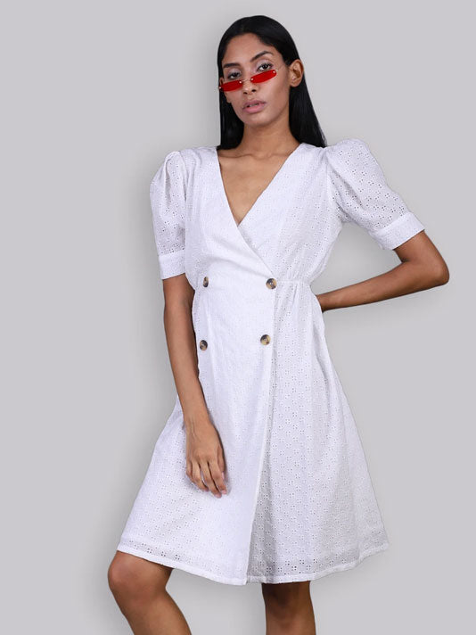 White Shifley Dress