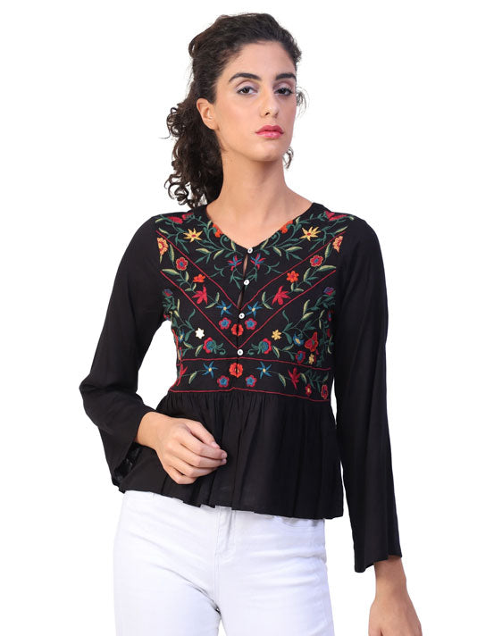 Anne Embroidered Top