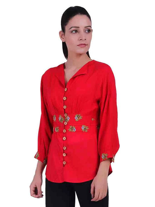 Coralie Embroidered Top
