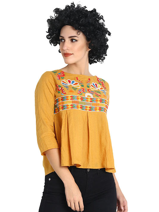 Embroidered Sunshine Blouse
