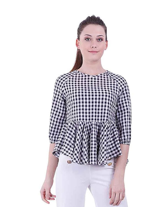 Kaia All over check Blouse