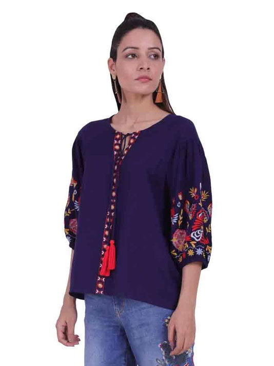 Moonlight Embroidered Blouse