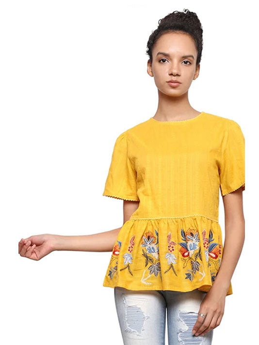 Sunshine Peplum Top