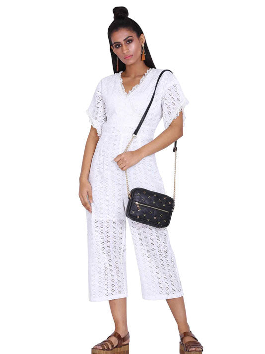 Broderie White Jumpsuit