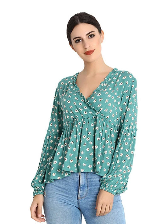 Wild Bloom Printed Blouse
