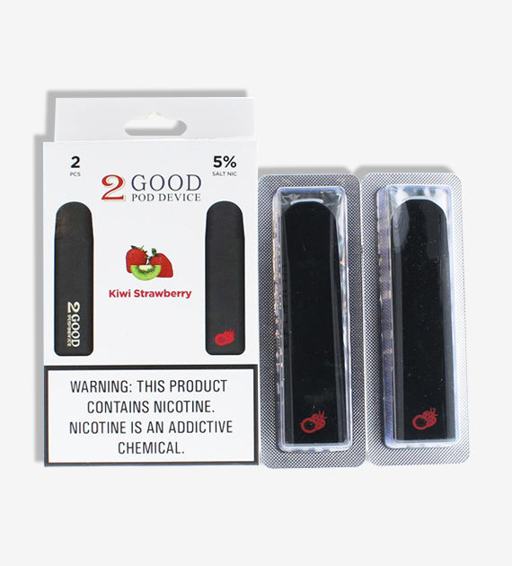 2 GOOD 5% Salt Nicotine Disposable Pod Device 2 Count Pack - Wholesale Only
