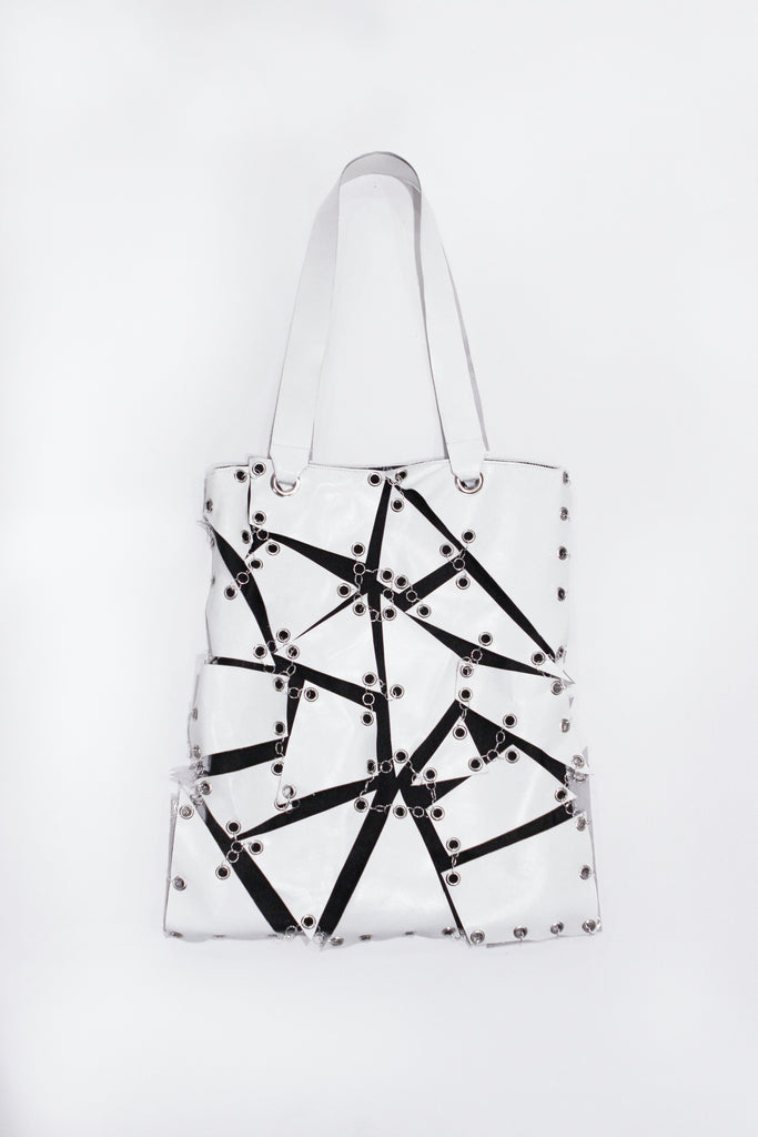 White Mosaic Bag