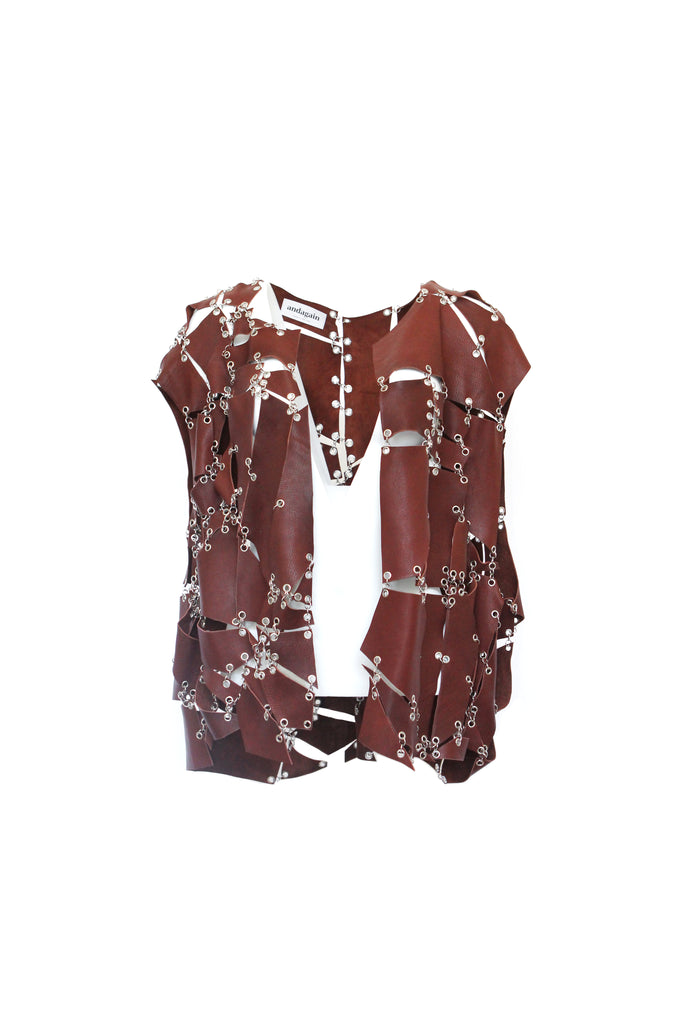 Oxblood Leather Vest