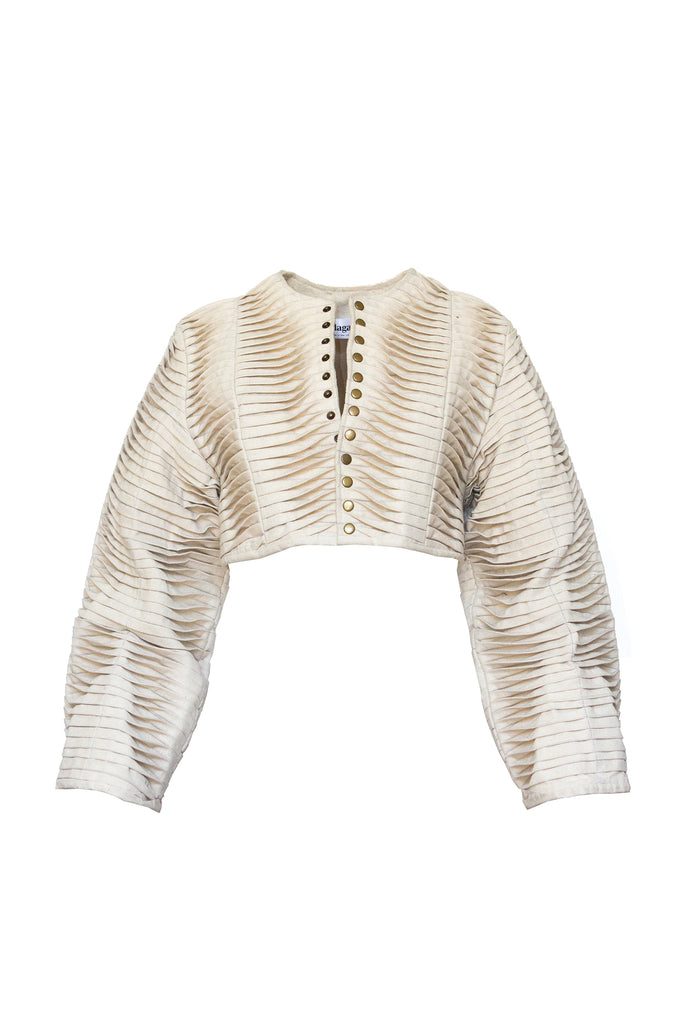 Pleated Canvas Bolero