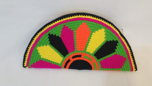 Green Orange Yellow Semi Circle Clutch - Wuitusu