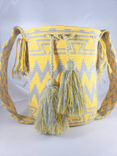 Mustard and Grey Wayuu Mochila Bag - Wuitusu