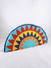 Blue, Yellow, Orange and Red Handmade Wayuu Crochet Clutch - Wuitusu