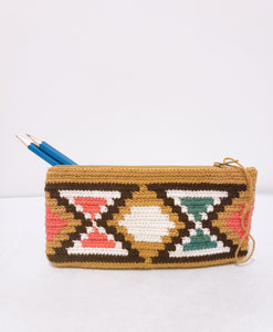 Light Brown Handmade Crochet Wayuu Pencilcase - Wuitusu
