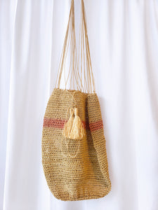 Pink and Natural Handmade Warao Palm Tree Bag - Wuitusu