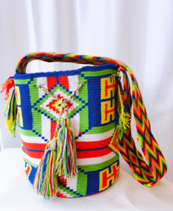 Bright Tribal Handmade Wayuu Mochila Bag - Wuitusu