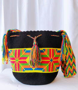 Window Handmade Crochet Wayuu Mochila Bag - Wuitusu