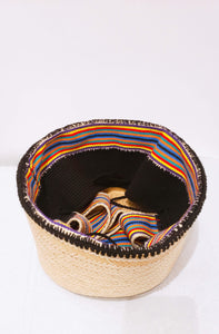 Black and Multicolor Large Mawisa Handmade Wayuu Mochila Bag - Wuitusu