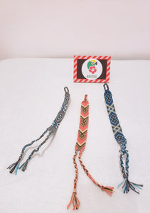 Pack of Three Pastel Wayuu Handmade Bracelets - Wuitusu