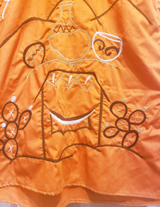 Rust Color Wayuu Kaftan - Handmade Embroidery - Wuitusu