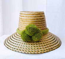 Dariana Green and Gold Handmade Wayuu Hat - Wuitusu