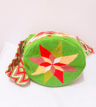 Libby Handmade Punch-needle Crossbody Wayuu Bucket Bag - Wuitusu