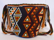Dark Blue, Green, Mustard, and Maroon Handmade Wayuu Mochila Bag - Wuitusu