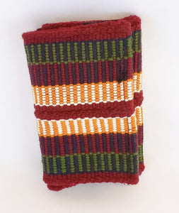 Maroon, Green and Mustard Handmade Wayuu Men's Wallet - Free USA Shipping - Wuitusu
