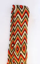 Red, Brown and Cream Handmade Wayuu Bag Strap - Wuitusu