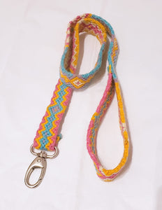 Pink Yellow Light Blue Leash - Wuitusu