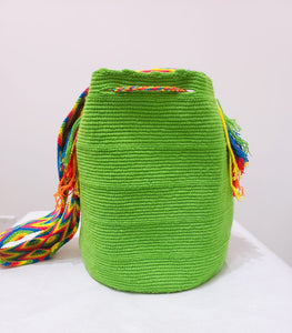 Apple Green Handmade Wayuu Mochila Bag - Wuitusu