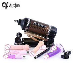 Hismith Golden Automatic Retractable Sex machine for women with 7 different attachments Vibrator dildo love machine sex products