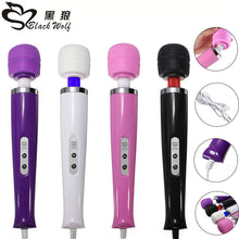 Black Wolf 10 Speed Vibrator Sex Toy Product Magic Wand Travel G-spot stimulation Massager Wired Style Personal Body