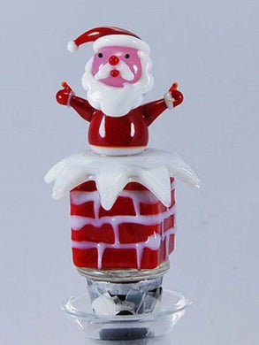 Santa Wine Bottle Stopper Hand Blown Glass
