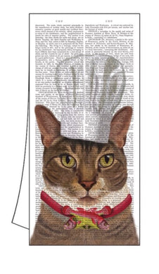 100% Cotton Kitchen/Bar Cat Towel 18