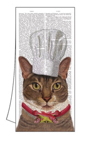 "100% Cotton Kitchen/Bar Cat Towel 18"" x 26"" ""Charlie"""