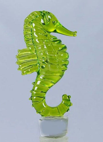 Seahorse Wine Bottle Stopper Hand Blown Glass