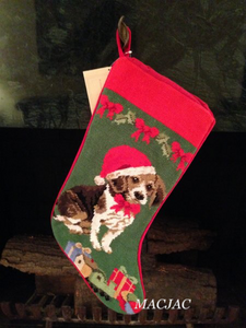 Beagle Dog Needlepoint Christmas Stocking