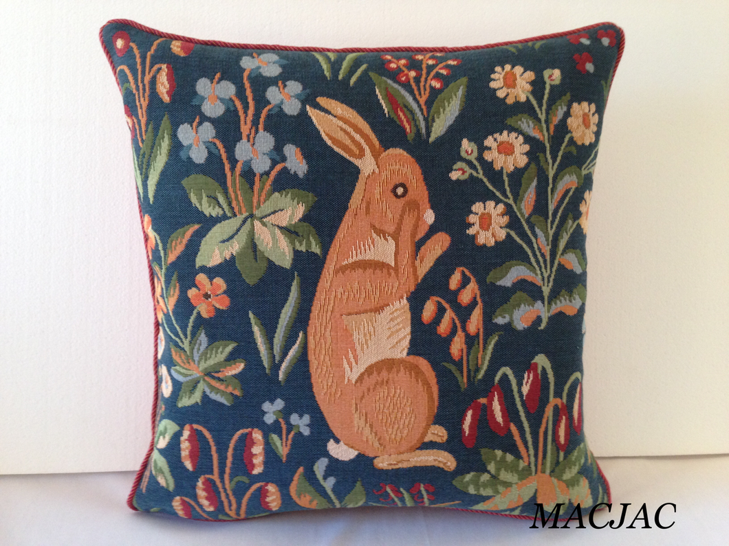 Rabbit Stand Up Extract Tapestry Pillow 19