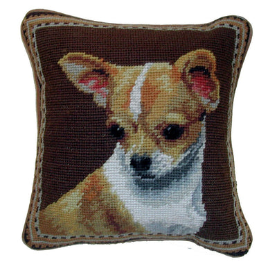 Chihuahua Dog Needlepoint Pillow 10