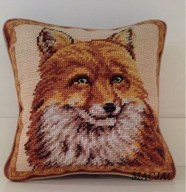 Red Fox Needlepoint Pillow 10