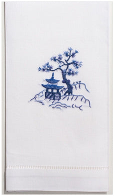 Canton Blue 100% Cotton Guest Hand Towel