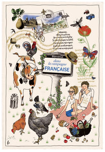 La Campagne Kitchen/Tea/Bar Towel From France